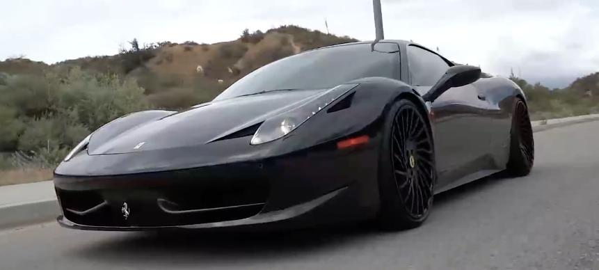 Ferrari 458 Negro Mate Y Con Llantas Forgiato 161 Flipante