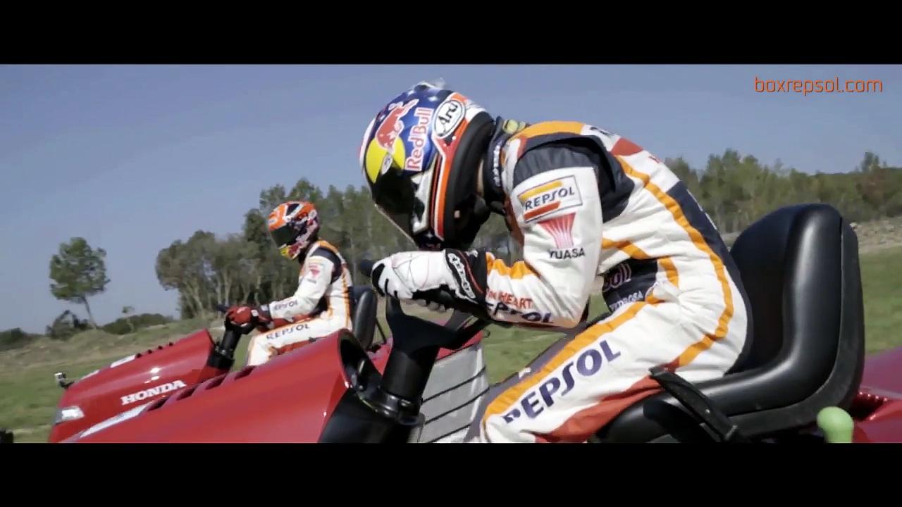 Marc m rquez o dani pedrosa qui n ser el m s r pido con el cortac sped motos - Patinete electrico marc marquez ...